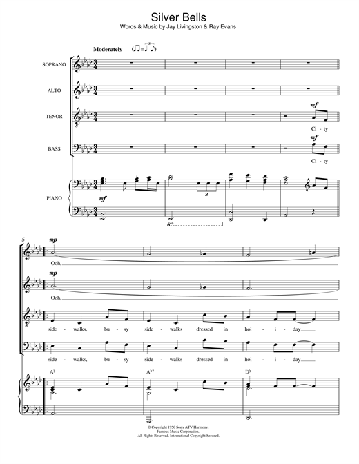 Partition chorale Silver Bells de Traditional - SATB