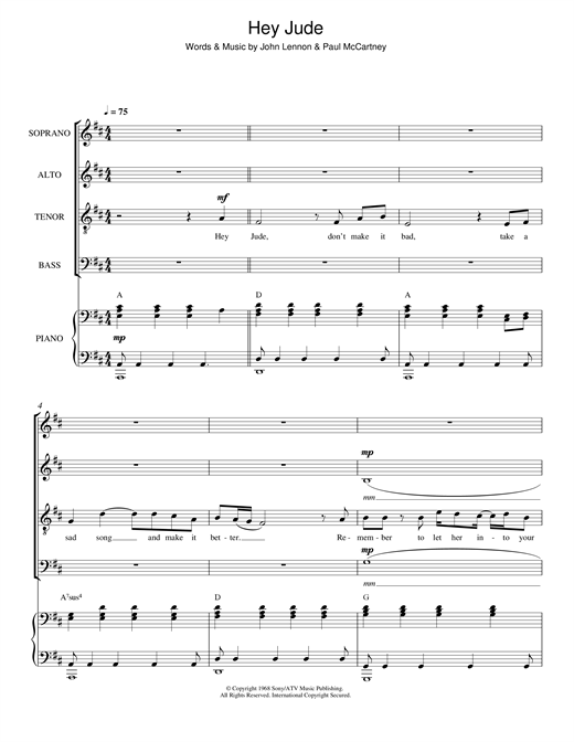 page one of Hey Jude (arr. Jeremy Birchall)ASALTTEXT