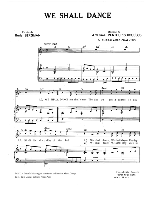 We Shall Dance Sheet Music
