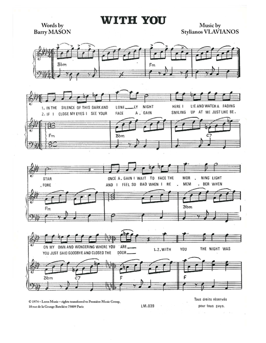 With You Sheet Music