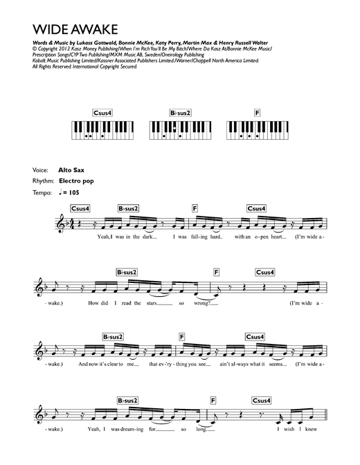 Wide Awake Sheet Music