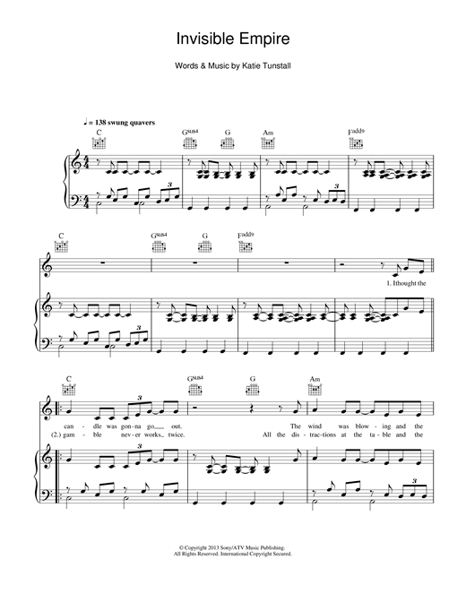 Invisible Empire Sheet Music