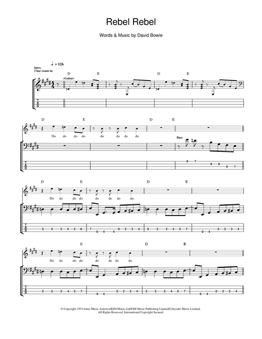 Rebel Rebel Sheet Music
