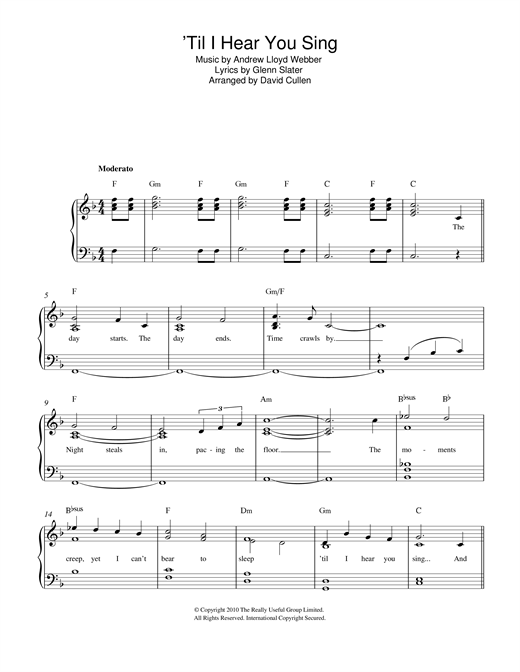 'Til I Hear You Sing (from 'Love Never Dies') Sheet Music