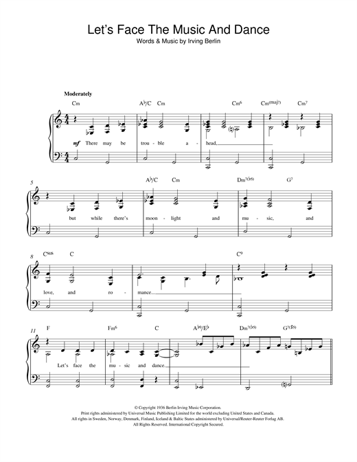 Let's Face The Music And Dance Sheet Music