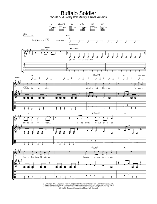 Buffalo Soldier Sheet Music