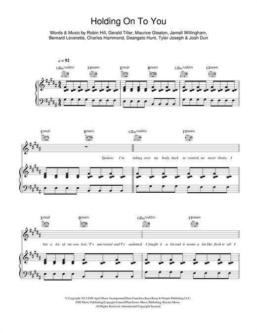 Holding On To You Sheet Music