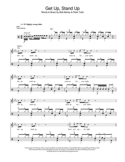 Get Up, Stand Up Sheet Music