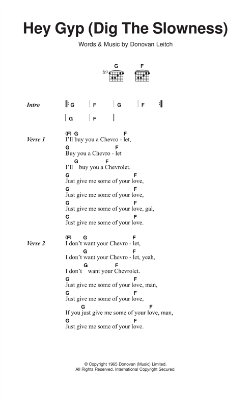 Hey Gyp (Dig The Slowness) Sheet Music
