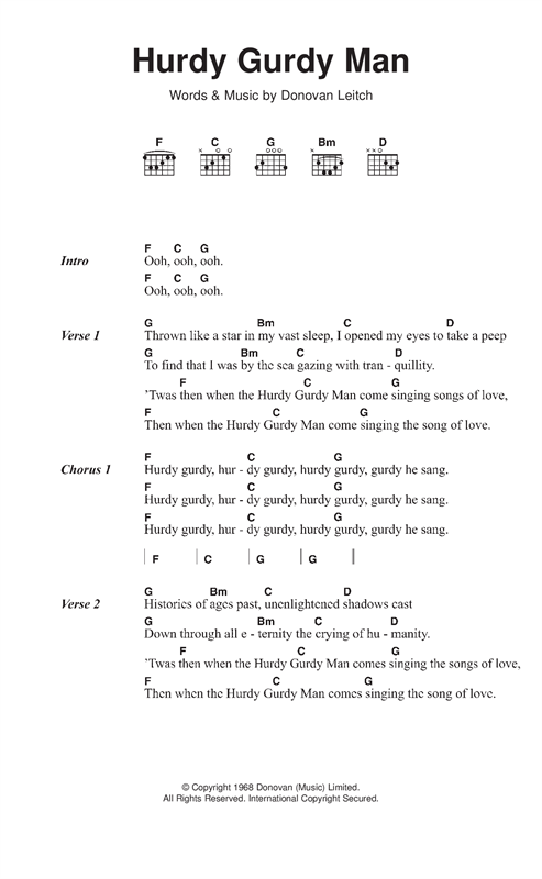 Hurdy Gurdy Man Sheet Music