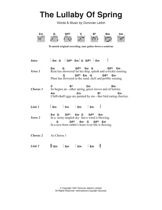 The Lullaby Of Spring Sheet Music