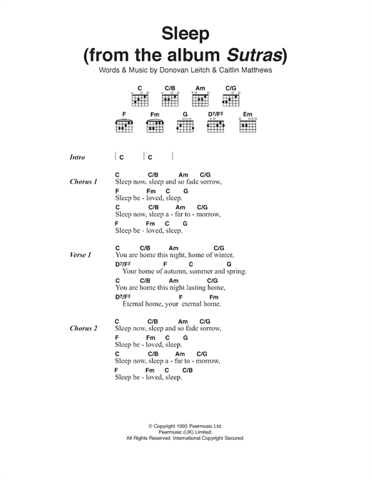 page one of Sleep (From Album Sutras)ASALTTEXT