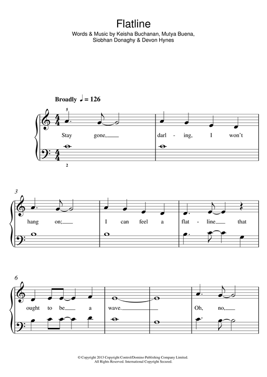 Flatline Sheet Music