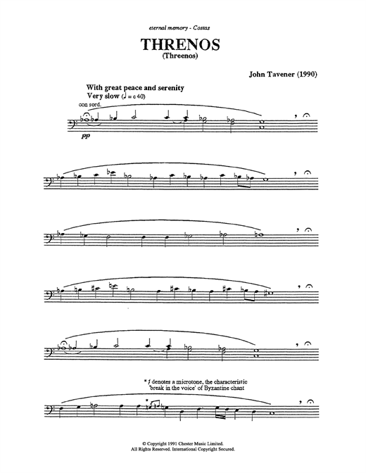Thrinos Sheet Music