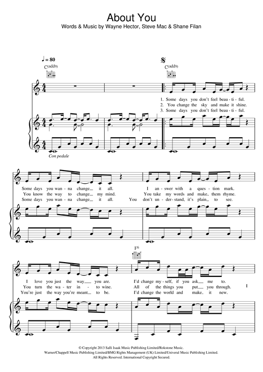 About You Sheet Music