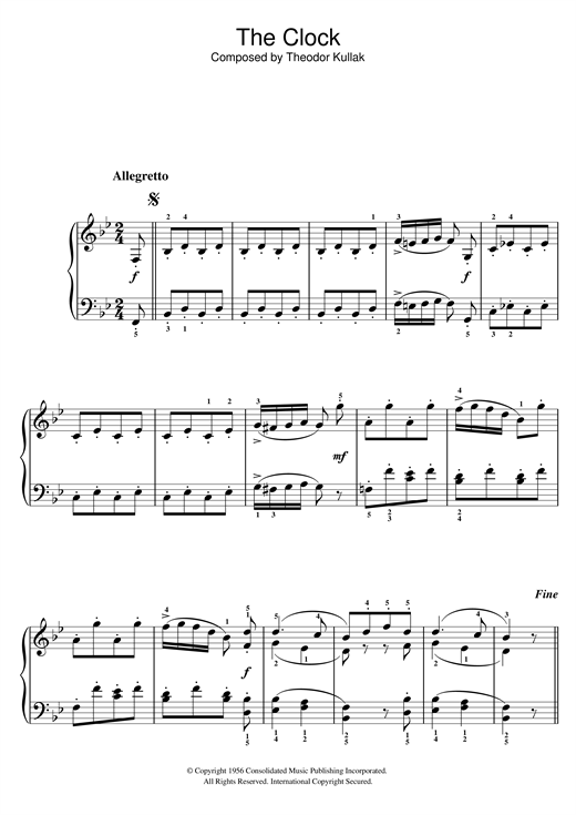 The Clock Sheet Music
