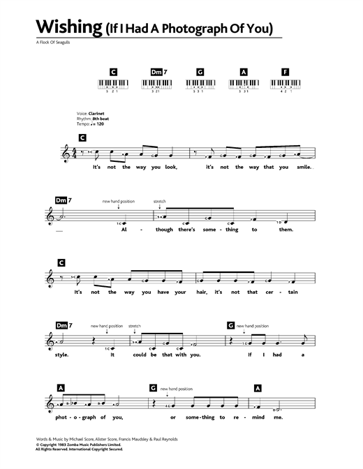 Wishing (If I Had A Photograph Of You) Sheet Music
