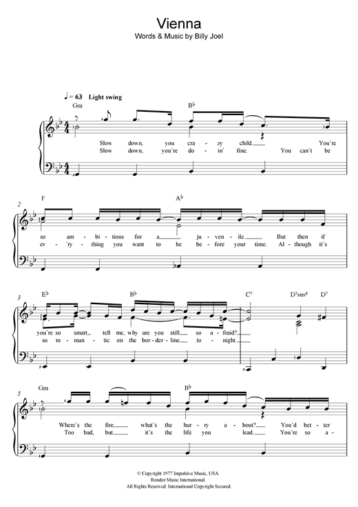 Vienna Sheet Music