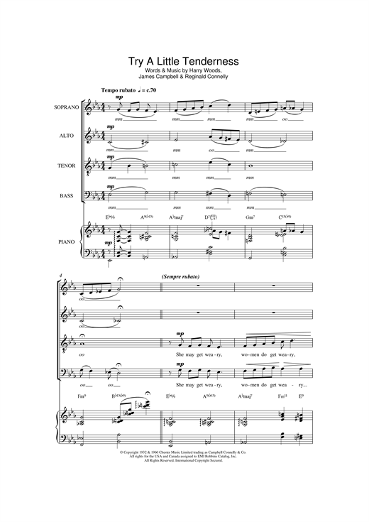 Try A Little Tenderness (arr. Jeremy Birchall) Sheet Music