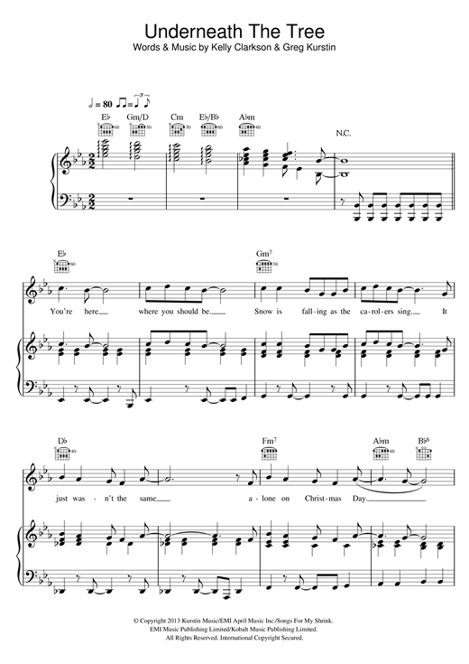 Underneath The Tree Sheet Music