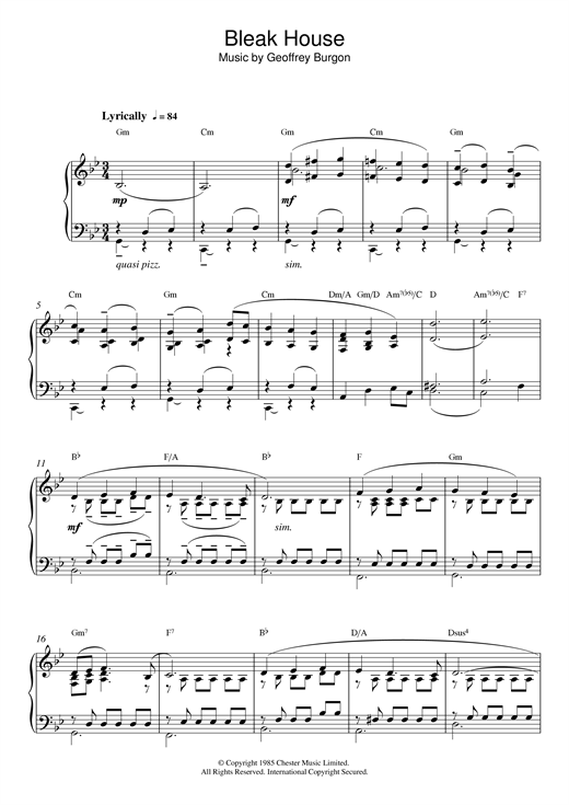 Theme from Bleak House Sheet Music