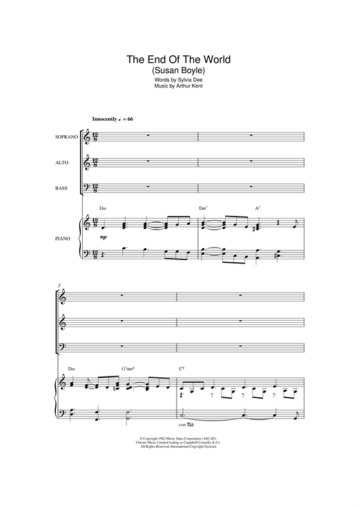 The End Of The World (arr. Patrick Gazard) Sheet Music