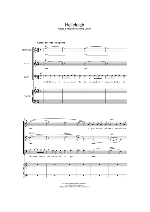 Hallelujah (arr. Jonathan Wikeley) Sheet Music