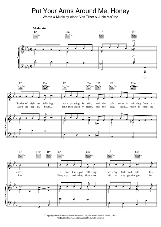 Put Your Arms Around Me sheet music by Albert von Tilzer (Piano ...
