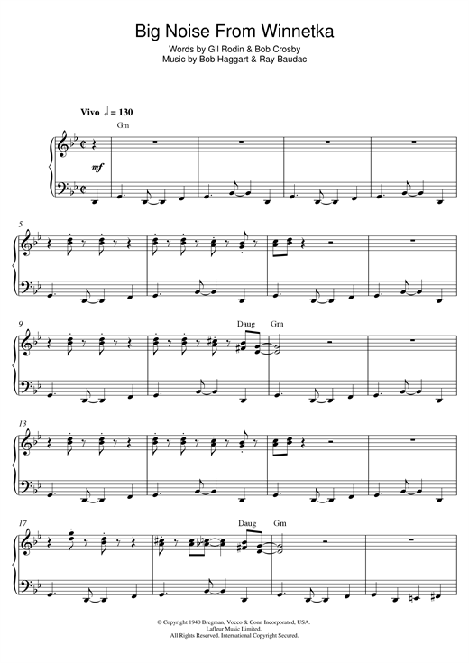 page one of Big Noise From WinnetkaASALTTEXT