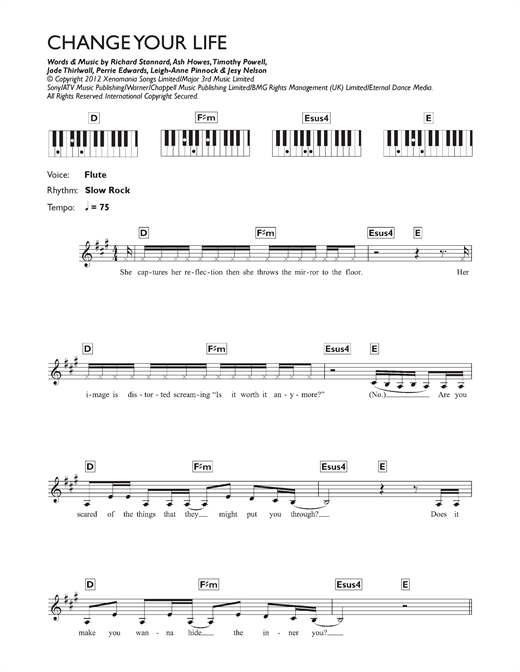 Change Your Life Sheet Music
