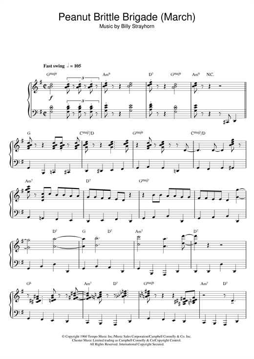 Peanut Brittle Brigade (From The Nutcracker Suite) Sheet Music
