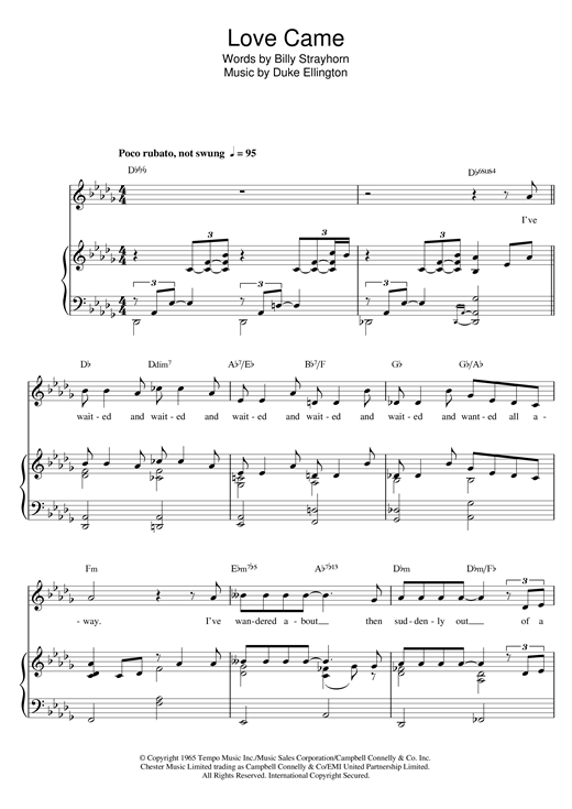 Love Came Sheet Music