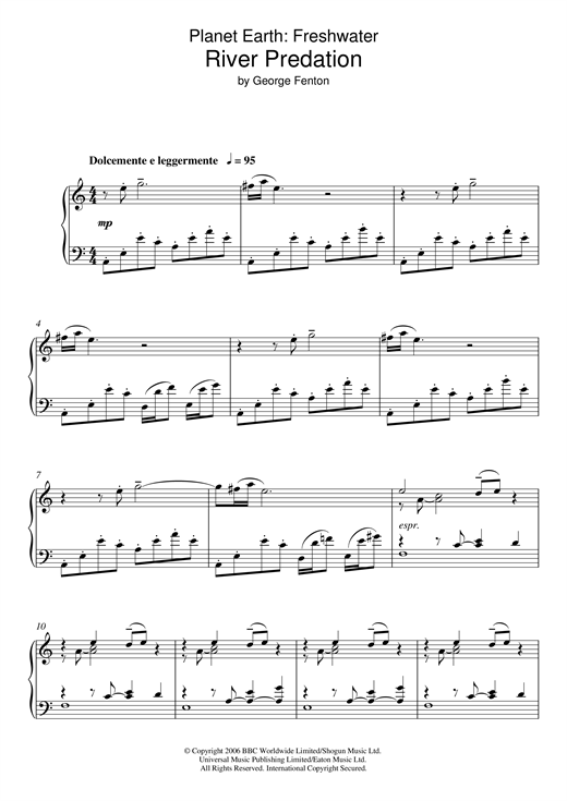 Planet Earth: River Predation Sheet Music