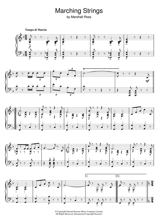 Marching Strings Sheet Music