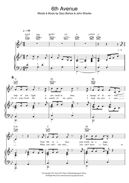 6th Avenue Sheet Music