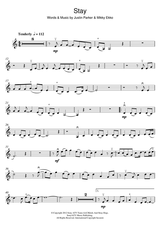 stay rihanna piano sheet music pdf