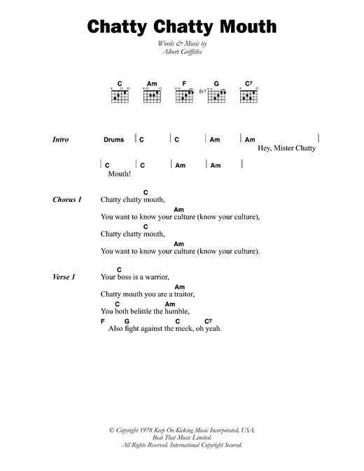 Chatty Chatty Mouth Sheet Music