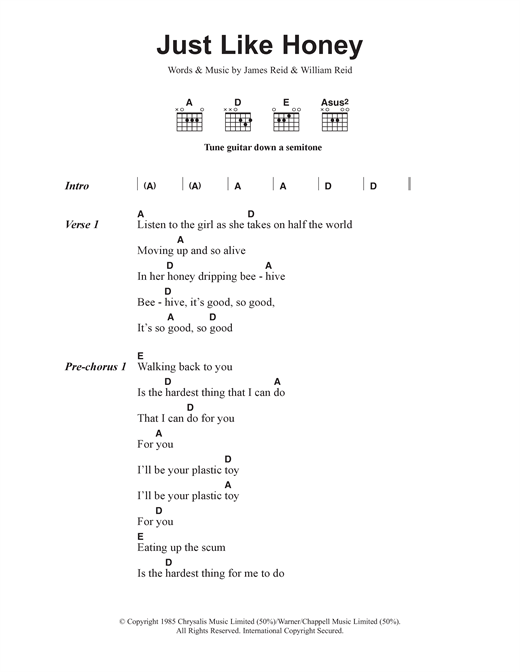 Just Like Honey Sheet Music