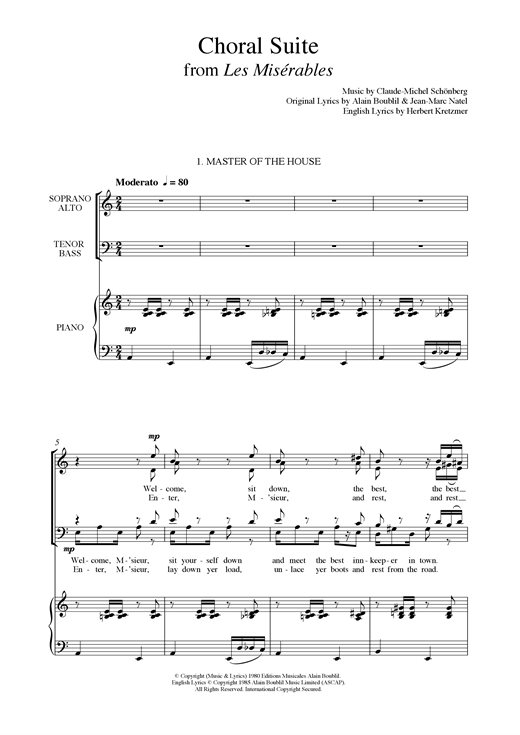 page one of Choral Suite From Les Miserables (arr. Francis Shaw)ASALTTEXT