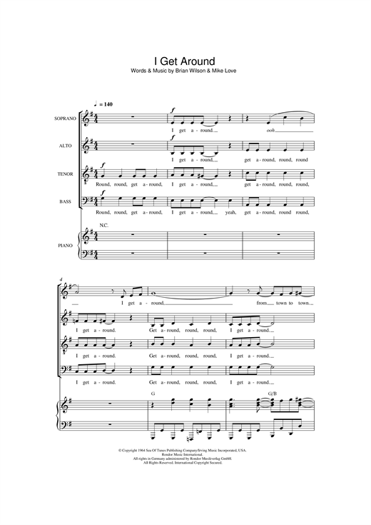 page one of I Get Around (arr. Thomas Lydon)ASALTTEXT