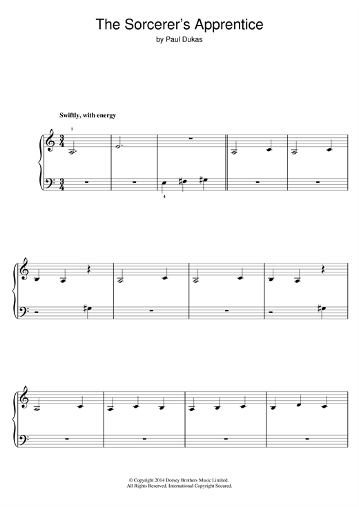The Sorcerer's Apprentice Sheet Music