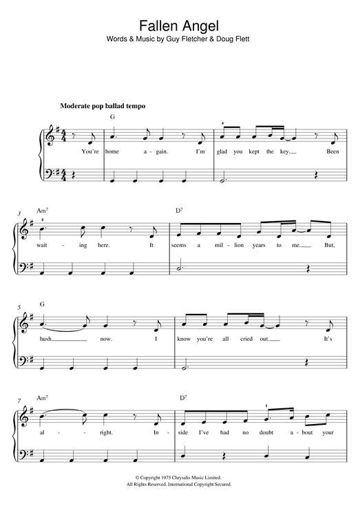 Fallen Angel Sheet Music