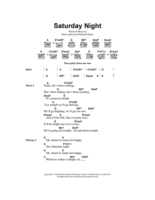 page one of Saturday NightASALTTEXT