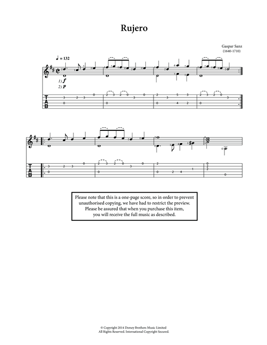 Rujero Sheet Music