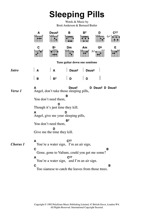 Sleeping Pills Sheet Music