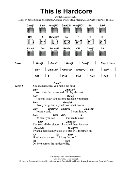 This Is Hardcore Sheet Music