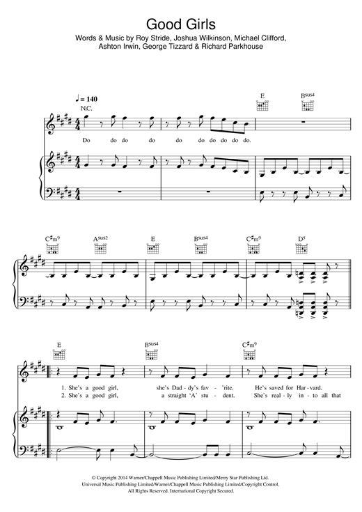 Good Girls Sheet Music