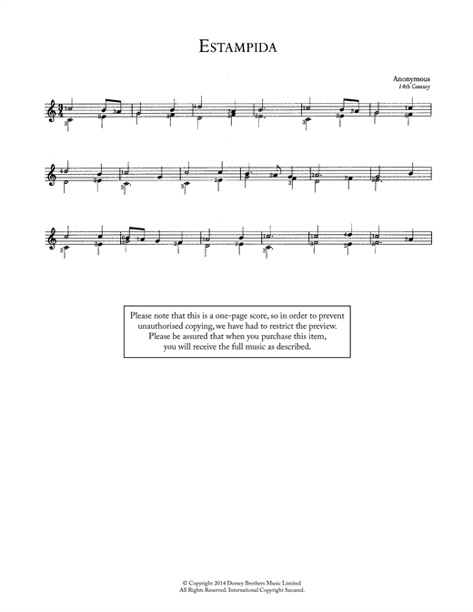 Estampida Sheet Music