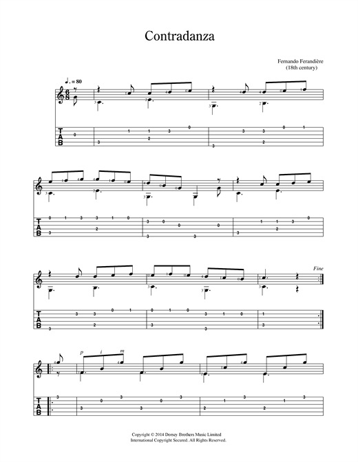 Contradanza Sheet Music