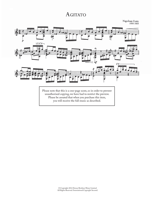 Agitato Sheet Music